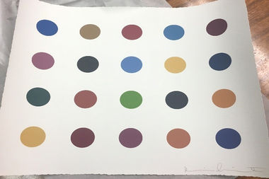 One of many faked Damien Hirst prints created by Vincent Lopreto.