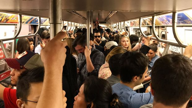 A typical morning for commuters who rely on the L train.