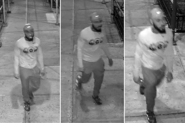 Police are looking for this man who they say attacked a bicyclist at random earlier this month.