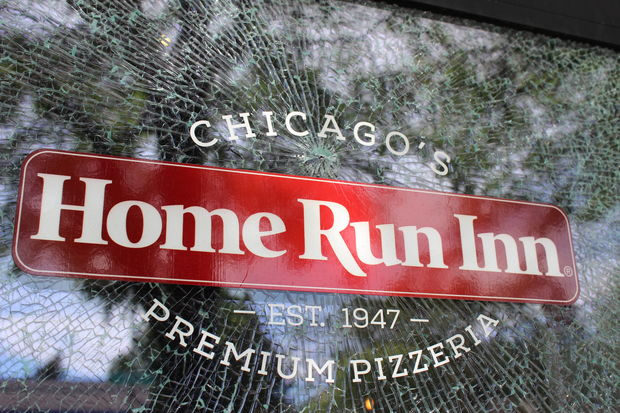 Several windows were found damaged Wednesday morning facing Western Avenue in Beverly and Morgan Park. One store owner said police blamed a person with a BB gun for the shattered glass.