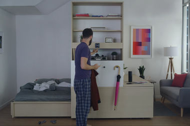 The company Ori recently brought robotic furniture to the MODE apartments in Logan Square.