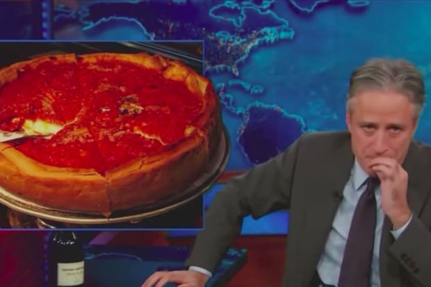 Jon Stewart is emceeing the Warrior Games, a paralympic-style event for military veterans, later this month at Soldier Field. He still prefers thin crust to Chicago deep-dish pizza.