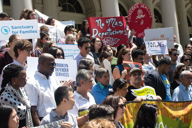 Councilwoman Melissa Mark-Viverito joined other elected officials and activists at a rally Thursday