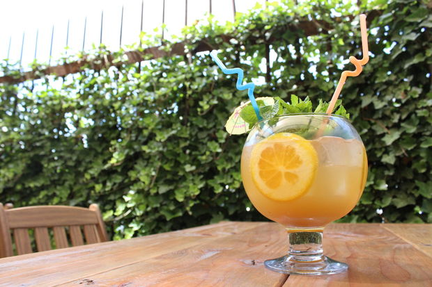 Enjoy a No Shoobies Punch Bowl on Forrest Point's Patio this weekend.