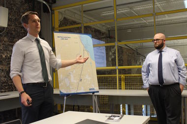 Jeff Brantz, right, Metra manager of service design, said he will be tweaking the proposed new schedule for the Electric Line after hearing from the community.