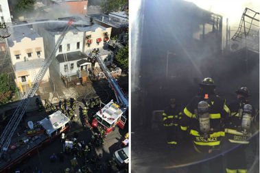 A large fire broke out and spread to neighboring buildings at Olmstead Avenue in The Bronx, FDNY officials said.