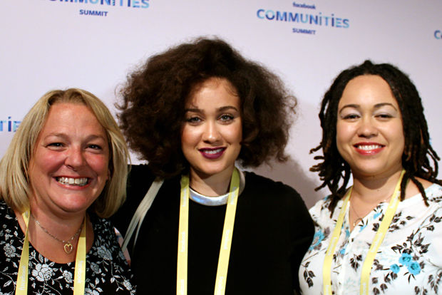 Tina Peterson (from left), Lauren Kent and Shanya Gray, the administrators behind the popular Moms of Beverly Facebook group, attended the Facebook Communities Summit in the West Loop last week.