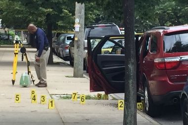 A man and a woman were fatally shot inside a Dodge Durango in East New York on Friday morning.