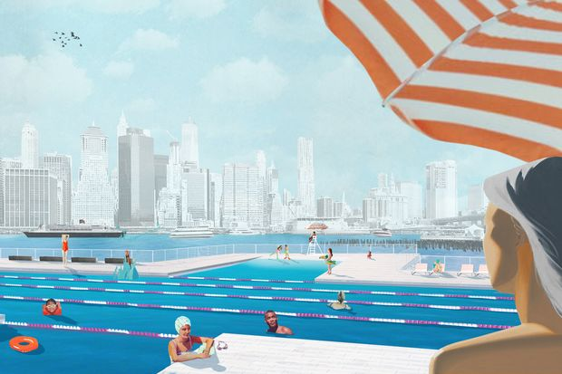 Heineken Pledges 100k To Floating Pool If It Gets Enough Public Backing Dumbo New York
