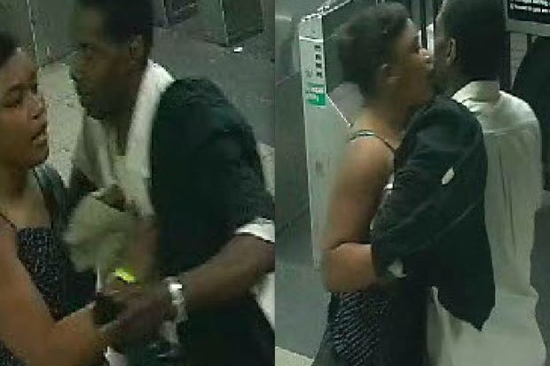Police are looking for this couple who they said assaulted a 51-year-old man at the Sutphin Boulevard and Archer Avenue subway station.