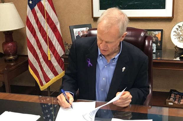 Gov. Bruce Rauner Friday signed a bill designed to toughen penalties for those convicted of multiple gun crimes.