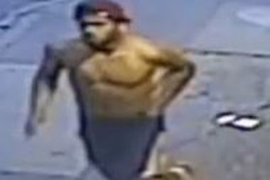 Police are looking for a man they said stabbed a teen inside Wok to Walk on Eighth Avenue in Midtown on June 18.