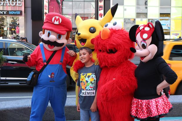 times square costumed character complaints on the rise amid drop in