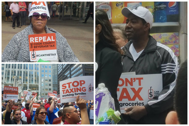 Images from the Can the Tax rally.