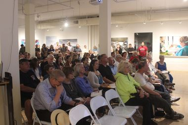 More than 150 residents presented a united front against the redevelopment at 1436 W. Berwyn Ave. at  community meeting Monday at the Swedish American Museum, 5211 N. Clark St.