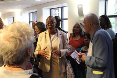 Ald. Leslie Hairston (5th) said Tuesday at an over-capacity ward meeting that she was now reconsidering down zoning 71st Street and wanted to study it more before acting.