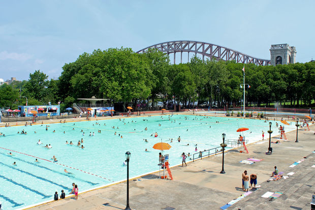 The outdoor pool at Astoria Park.