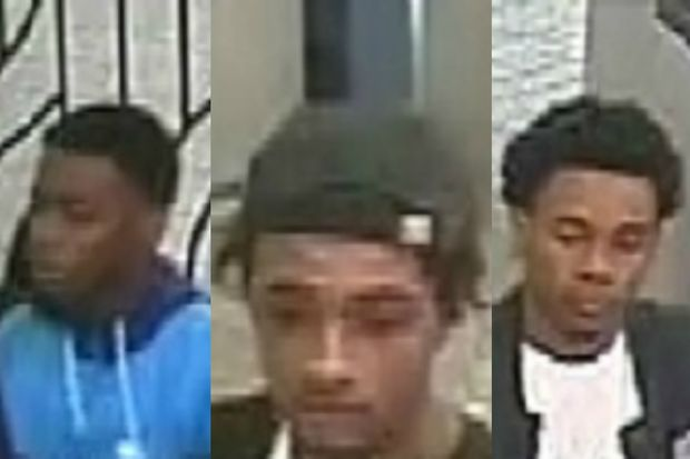 Police are looking for three suspects wanted for robbing an L train rider.