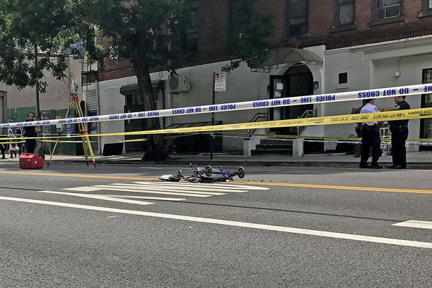 An 82-year-old pedestrian was struck at Chrystie and Rivington streets Thursday afternoon, June 29, 2017.