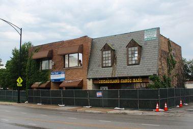 Demolition of Ralph Frese's Chicagoland Canoe Base, 4019 N. Narragansett Ave., began Monday.