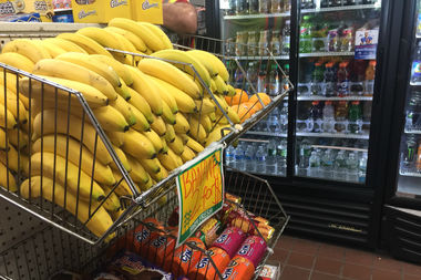 The batch of bananas the suspect pulled from before going into a rampage at the Shell station at First Avenue at 96th Street.