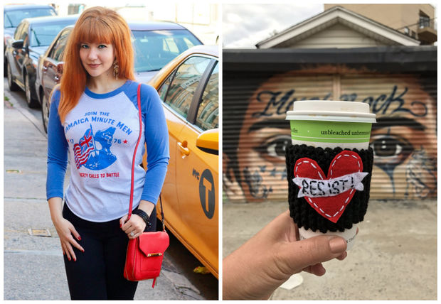The new market will include shirts from Unified Queens (left) and knitted drink koozies by Queens Knits (right).