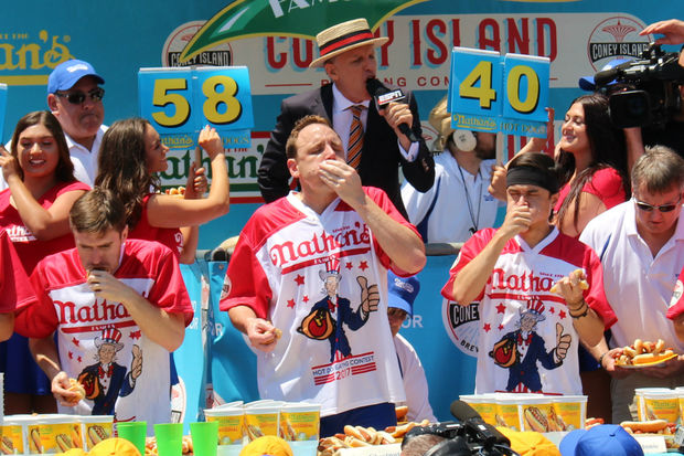 Coney Island Hot Dog Eating Champ Breaks Record By Downing 6