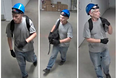 Police say this man stole more than $15,000 in laptops from a construction site outside of Memorial Sloan Kettering's David H. Koch Center for Cancer Care on June 28.