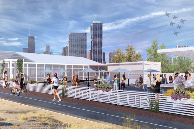 The S Club Will Be Nestled Between Divided Paths Of Lakefront Trail