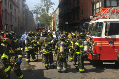 A fire broke out in a basement of a building at 160 Bleecker Street on Wednesday morning.