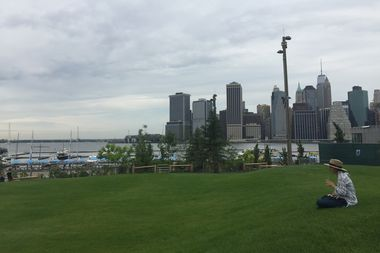 A 3.4-acre space at the Pier 5 uplands officially opened at Brooklyn Bridge Park on Thursday.