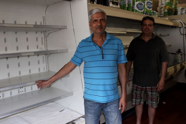 Owners of PK's Farm Fresh, Ajai Gupta and Anil Argawal, said they have lost thousands of dollars in produce.