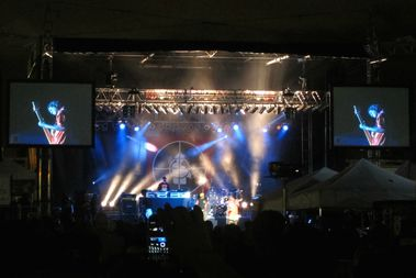 Public Enemy performs at the Wingate Park concert series in the summer of 2012.
