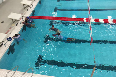 The Plus Pool swimming lessons for NYCHA children kicked off this week.