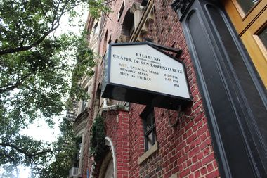 The Chapel of San Lorenzo Ruiz is located at 378 Broome St.
