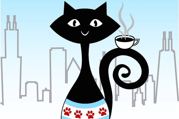 The logo for Windy Kitty Cat Cafe