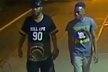 Police are looking for two men they said robbed the Koneko Cafe on Clinton Street on July 3.