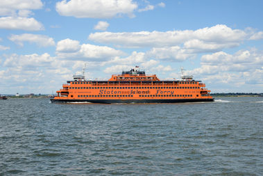 The city started a pilot to close the upper deck on some Staten Island Ferry boats to reduce delays from tourists taking too long to get off the boat from them.