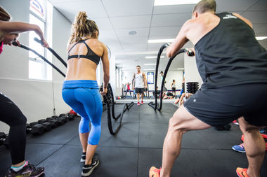 F45 Training puts fitness fans through a 45-minute session of high-intensity interval training.