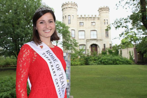 Maggie McEldowney will hand off her crown Aug. 22 to Ireland's 2017 Rose of Tralee. McEldowney, pictured at The Castle in Beverly, graduated from St. Barnabas Elementary School and the University of Illinois at Urbana-Champaign.