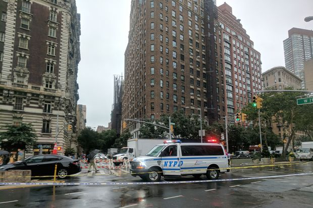 Responders shut down several blocks after a manhole fire broke out at 71st Street and Amsterdam Avenue Thursday, July 13, 2017.
