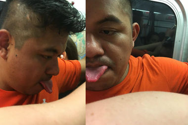 Police are looking for this man for forcibly touching a woman on the L train.