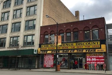 The former Chicago Avenue Discount store at 1637 W. Chicago Ave.
