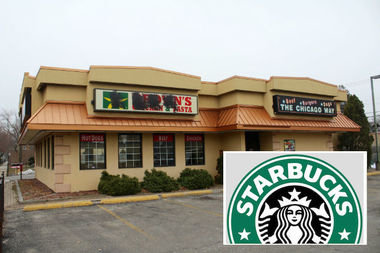 Starbucks has applied for permits to open a drive-thru at 5601 W. Lawrence Ave., officials said.