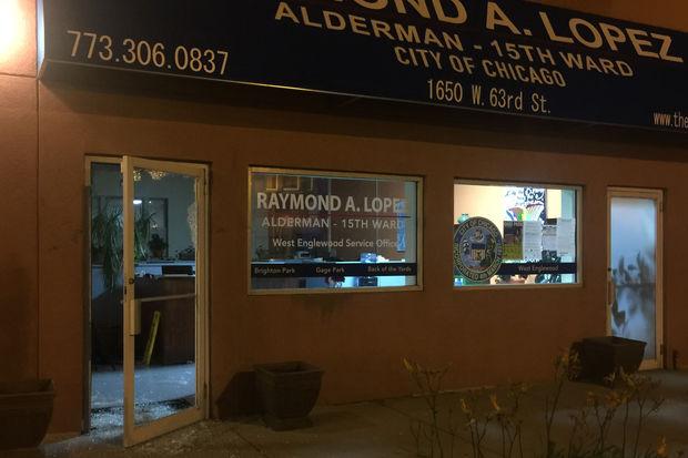 Someone broke into Ald. Lopez's office Monday night.
