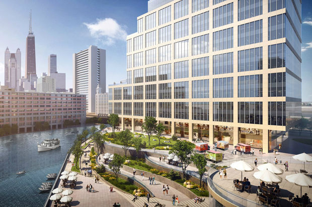 A planned riverfront development next to the Tribune Freedom Center is