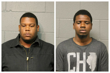 Left: Darvell White, 23,  and Anthony Wickliffe  also 23, were arrested in conjunction with two burglaries, police say.