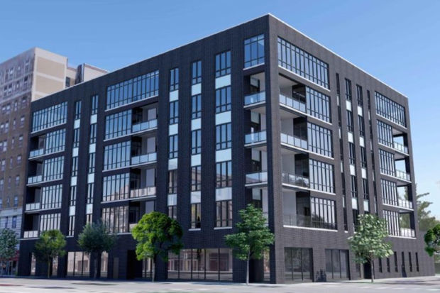 This Proposed Six Story Apartment At 521 W. Diversey Will Be Built On The