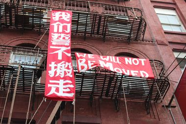 The tenants of 83-85 Bowery continue to fight for rent protection as their landlord attempts to oust them to carry out repairs.
