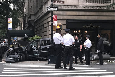 Huey Bui, 40, was charged with vehicular assault and operating a motor vehicle while impaired by drugs after he crashed his SUV at East 63rd Street and Madison Avenue, authorities said.